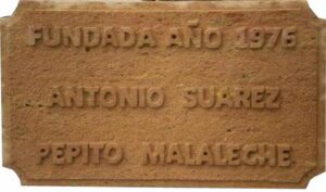Letrero en Piedra
